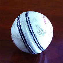 Used 4PC White Leather Cricket Balls