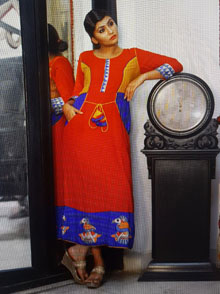 Jute Cotton Madhubani Dress